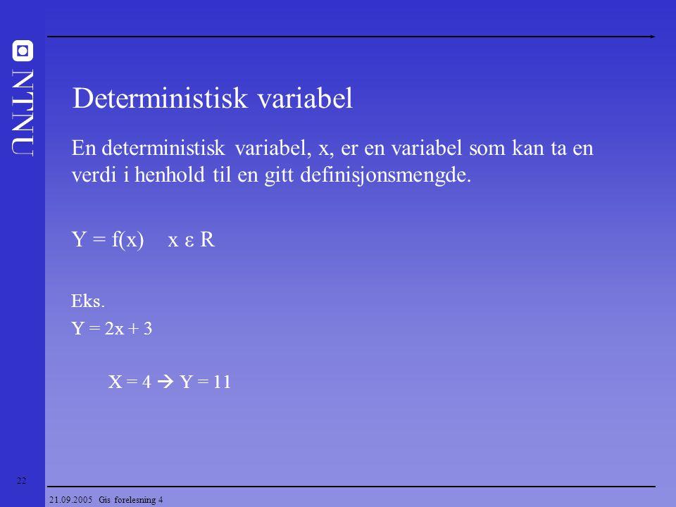 Deterministisk variabel