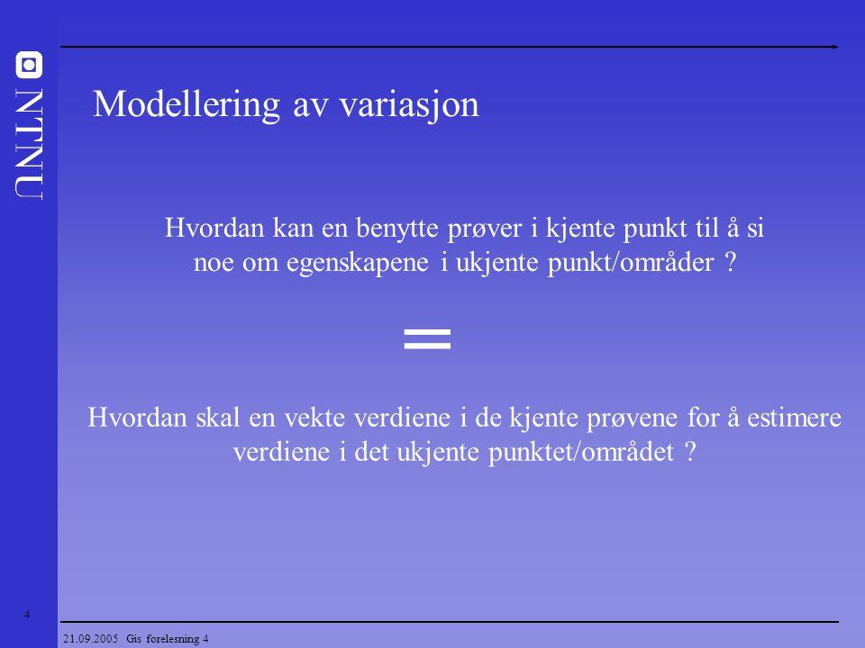 = Modellering av variasjon