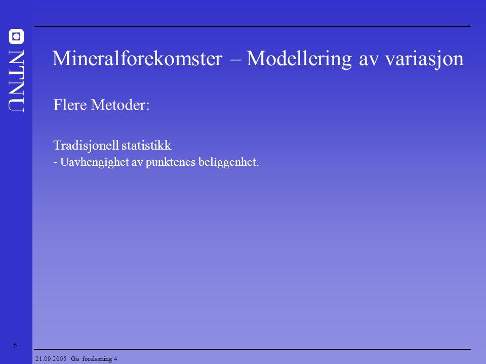 Mineralforekomster – Modellering av variasjon