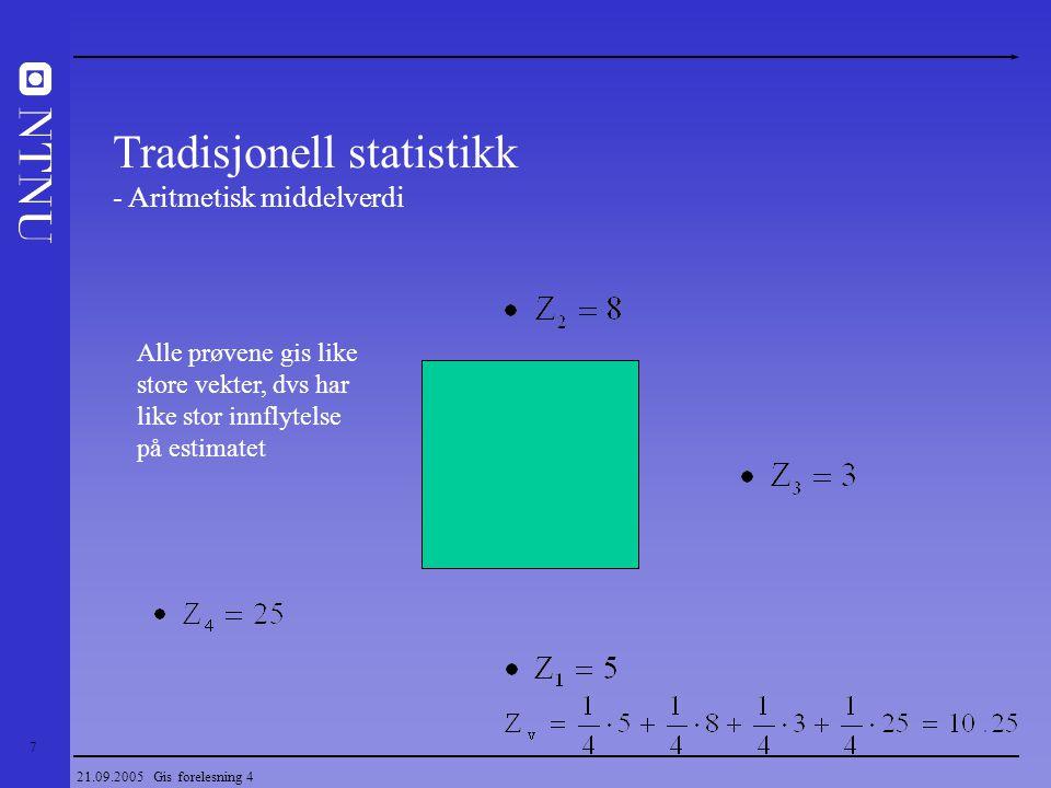 Tradisjonell statistikk - Aritmetisk middelverdi