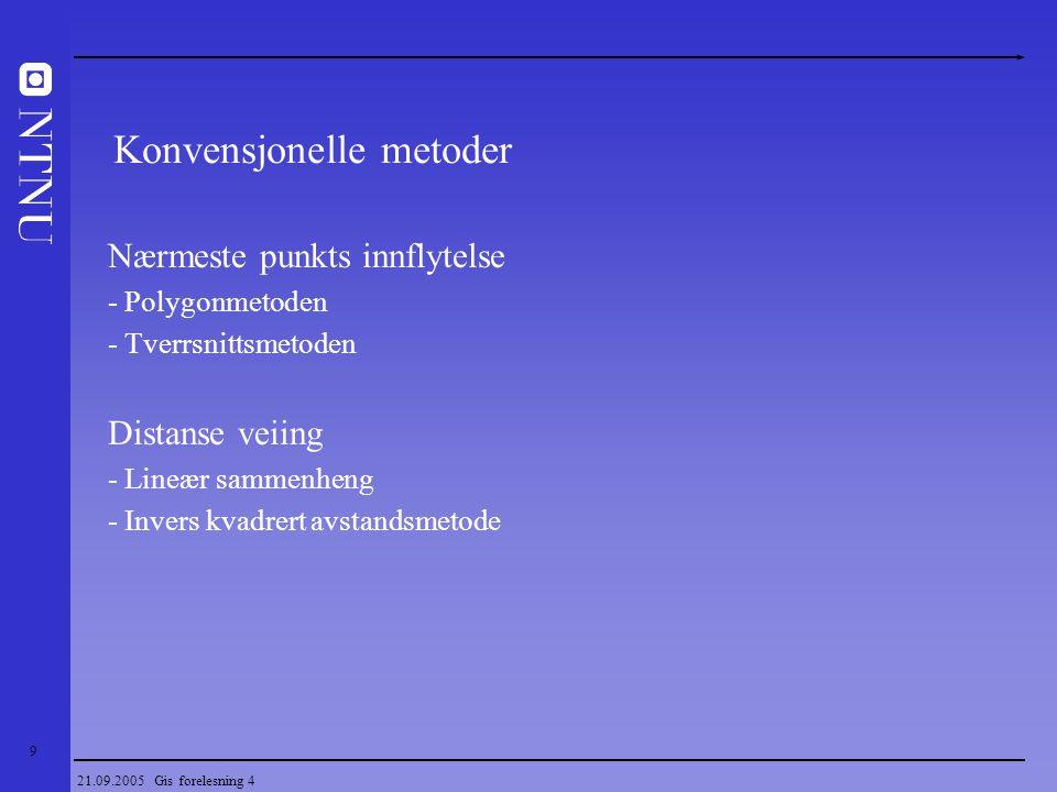 Konvensjonelle metoder