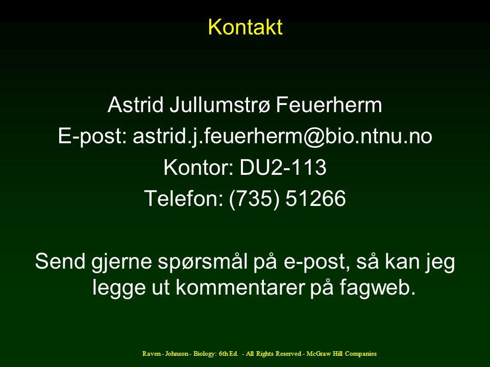 Astrid Jullumstrø Feuerherm E-post: astrid.j.feuerherm@bio.ntnu.no