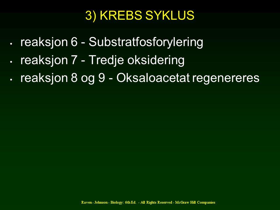 reaksjon 6 - Substratfosforylering reaksjon 7 - Tredje oksidering