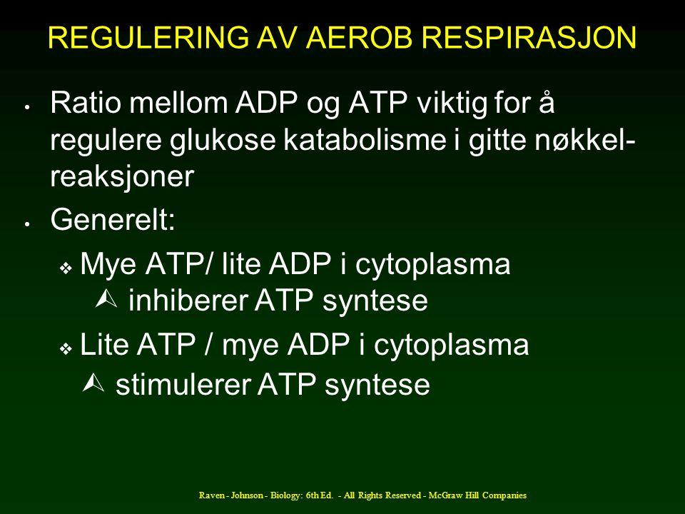 REGULERING AV AEROB RESPIRASJON