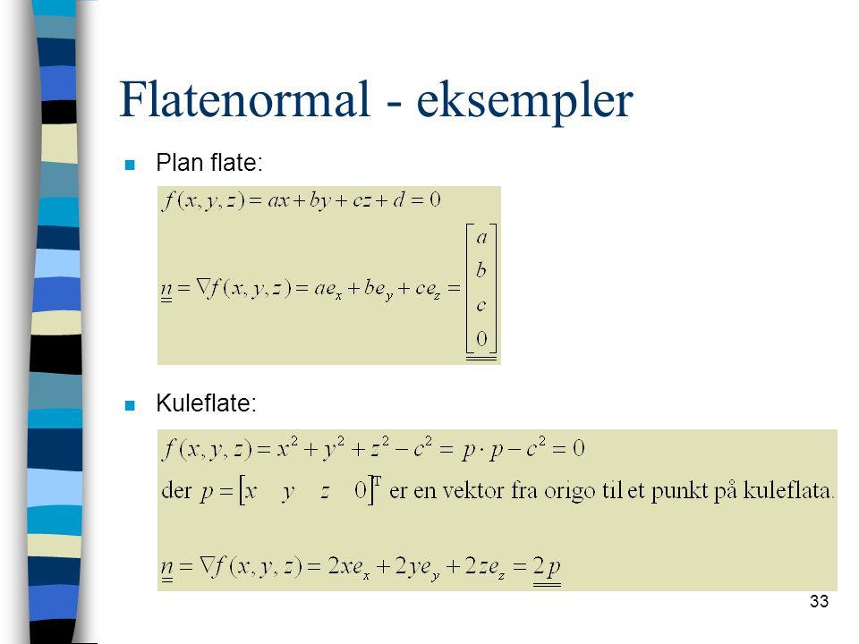 Flatenormal - eksempler