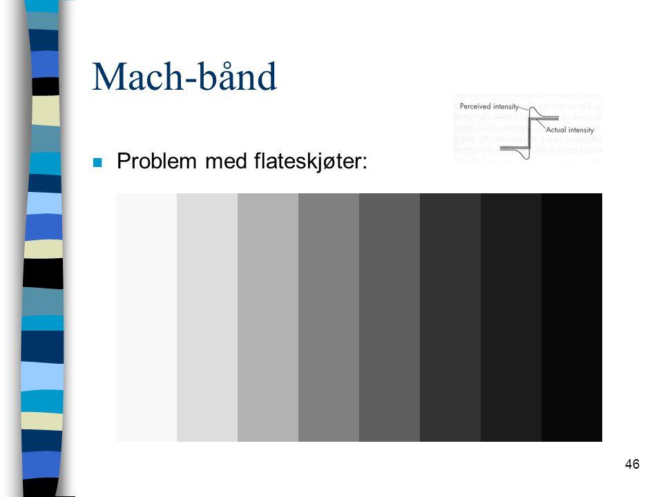 Mach-bånd Problem med flateskjøter: