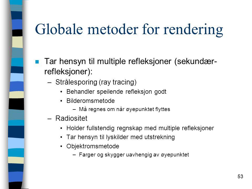 Globale metoder for rendering
