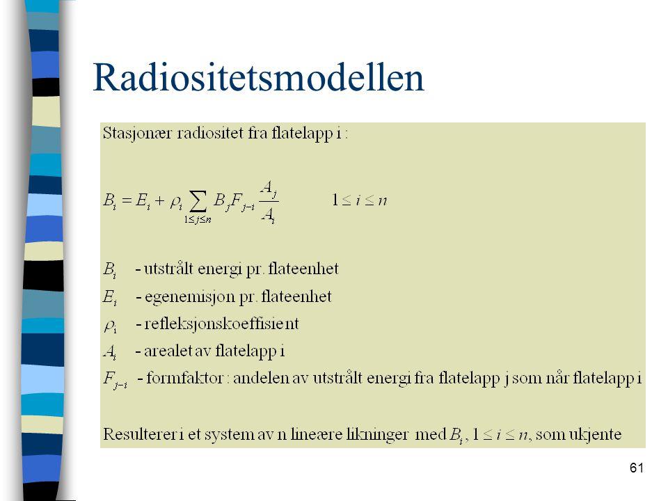Radiositetsmodellen