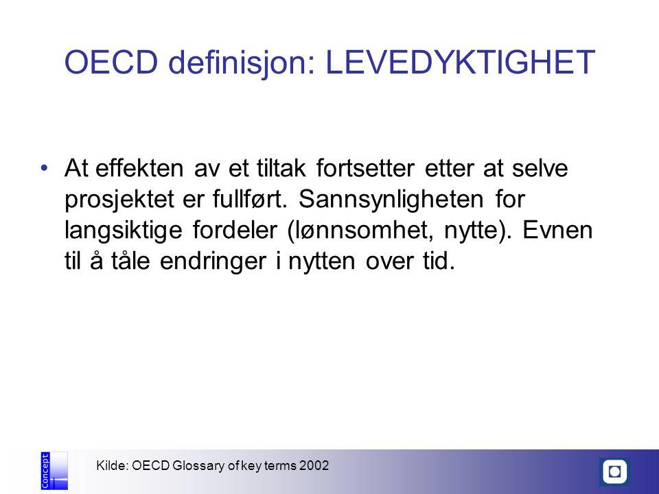 OECD definisjon: LEVEDYKTIGHET