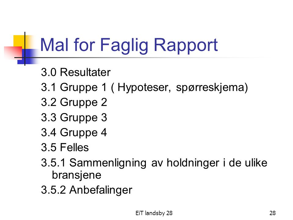 Mal for Faglig Rapport 3.0 Resultater