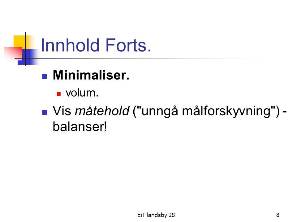 Innhold Forts. Minimaliser.