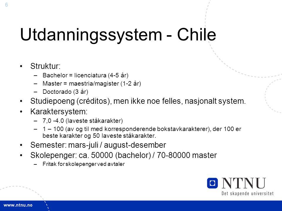 Utdanningssystem - Chile