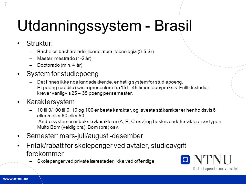 Utdanningssystem - Brasil