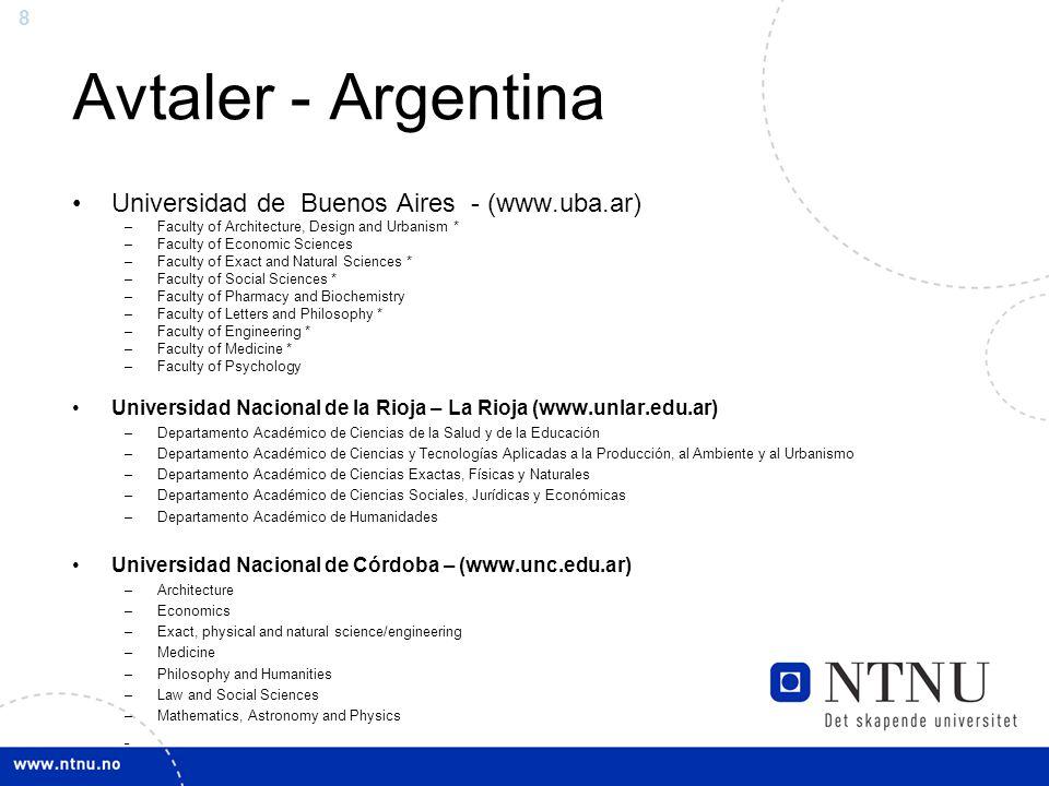 Avtaler - Argentina Universidad de Buenos Aires - (www.uba.ar)