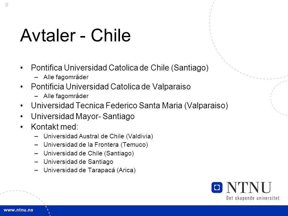 Avtaler - Chile Pontifica Universidad Catolica de Chile (Santiago)