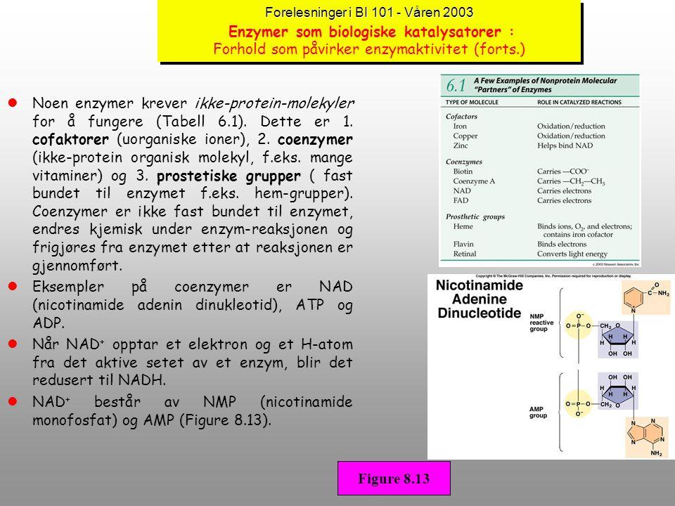NAD+ består av NMP (nicotinamide monofosfat) og AMP (Figure 8.13).
