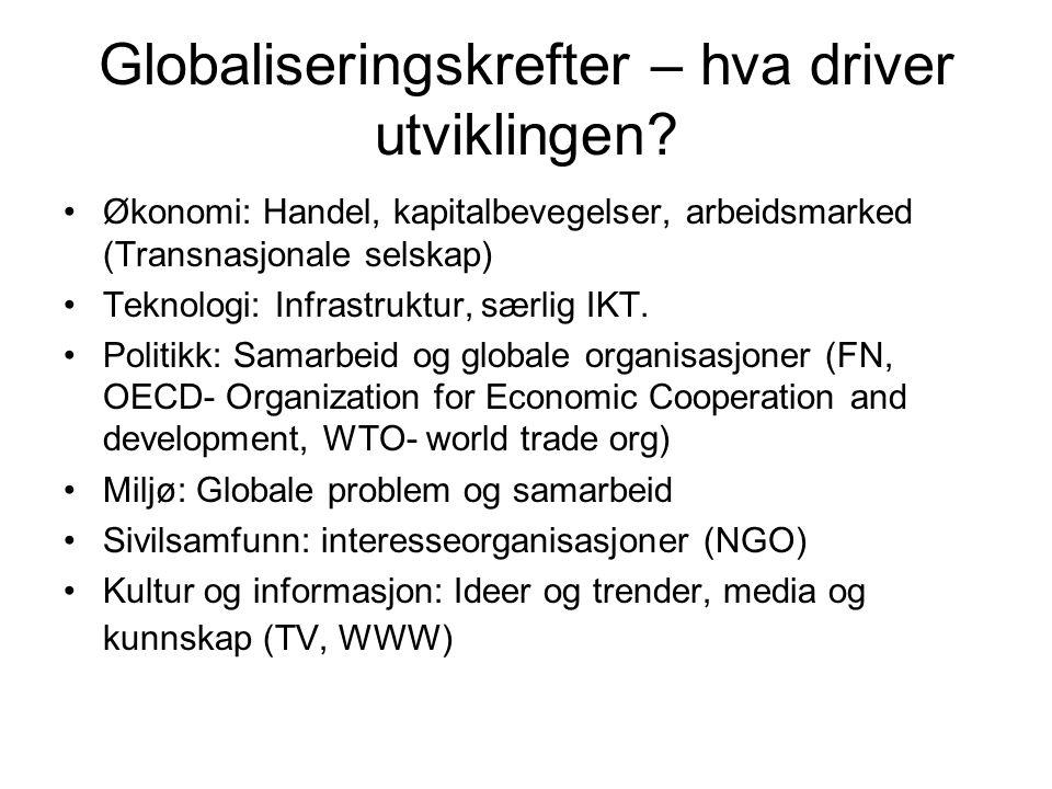 Globaliseringskrefter – hva driver utviklingen