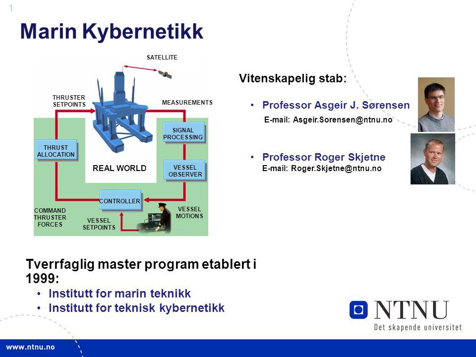 Marin Kybernetikk Tverrfaglig master program etablert i 1999: