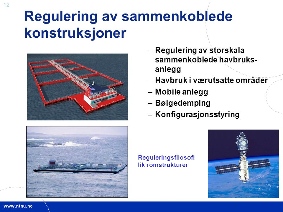 Regulering av sammenkoblede konstruksjoner
