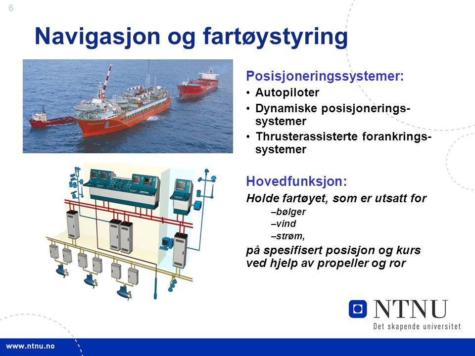 Navigasjon og fartøystyring