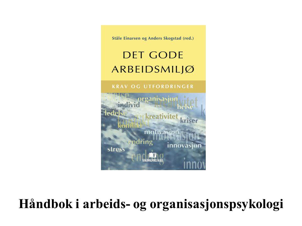 Håndbok i arbeids- og organisasjonspsykologi