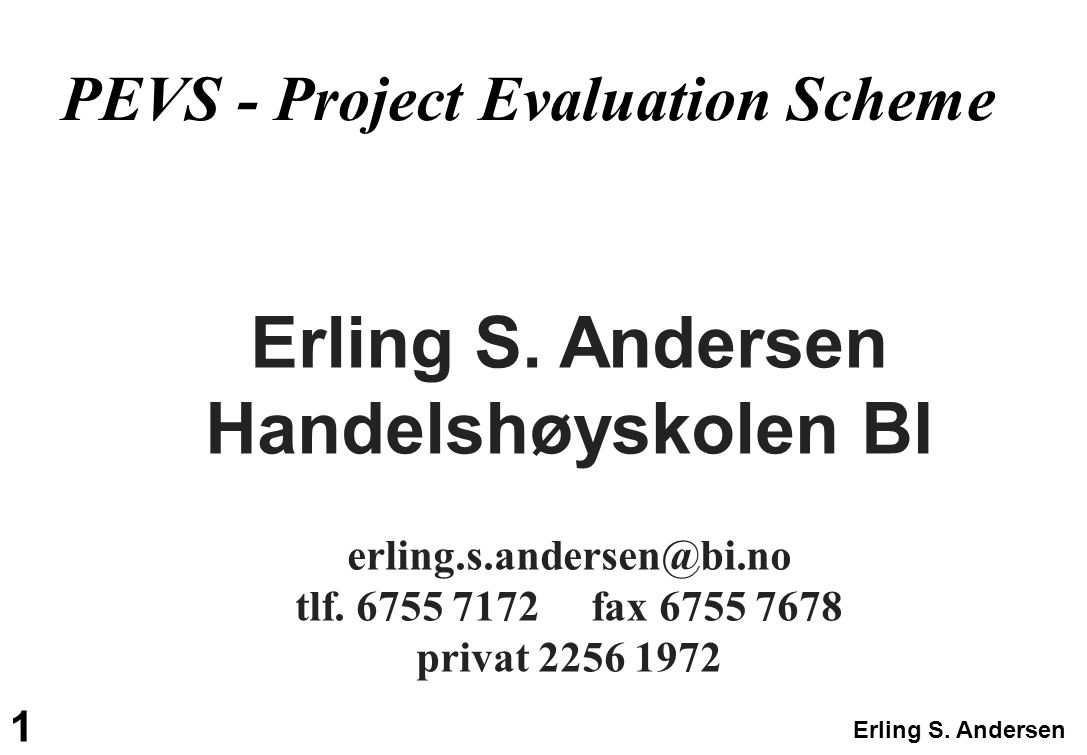 Erling S. Andersen Handelshøyskolen BI