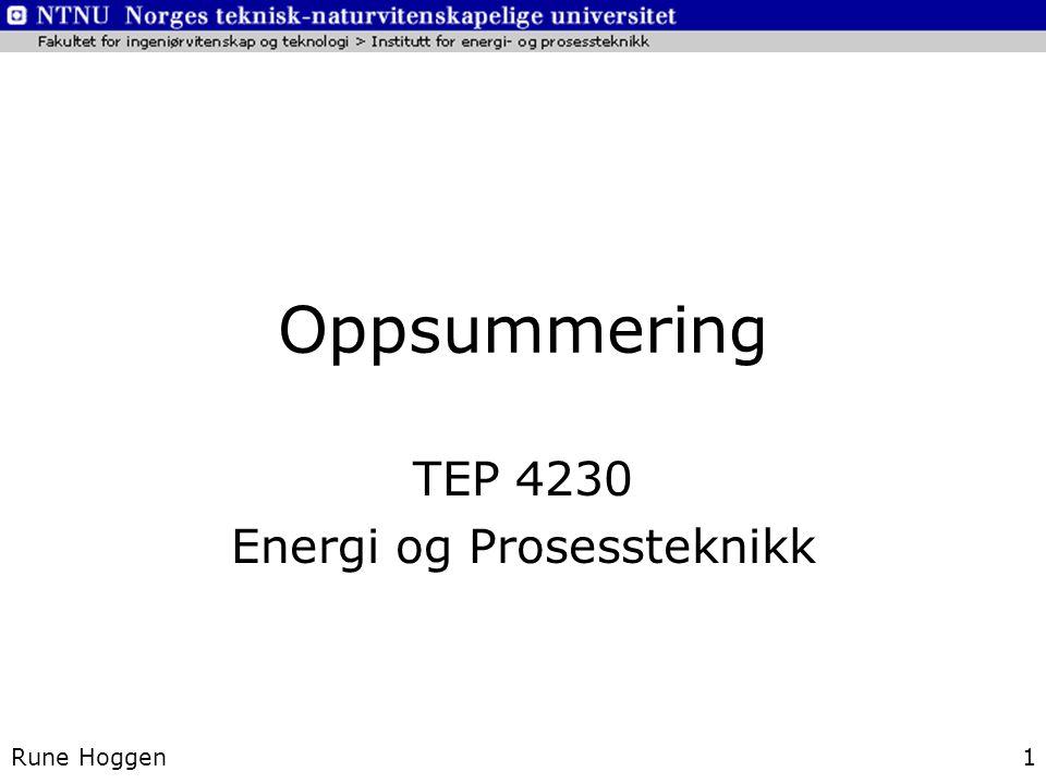 TEP 4230 Energi og Prosessteknikk