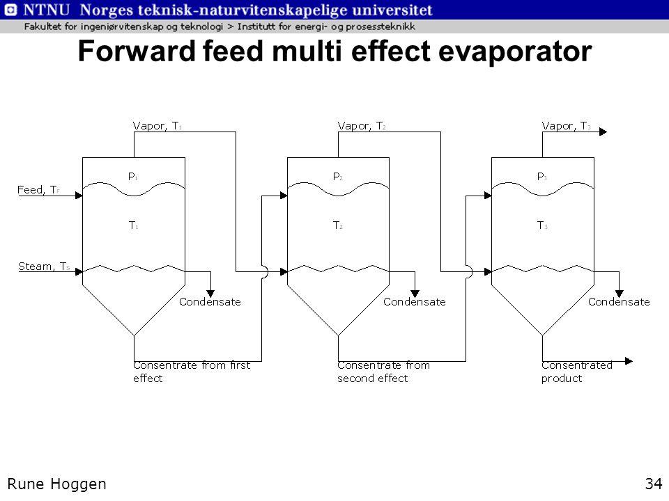 Forward feed multi effect evaporator
