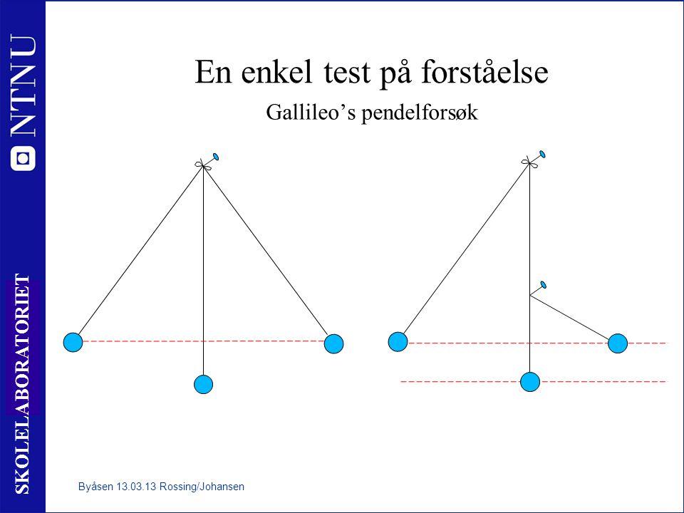 En enkel test på forståelse