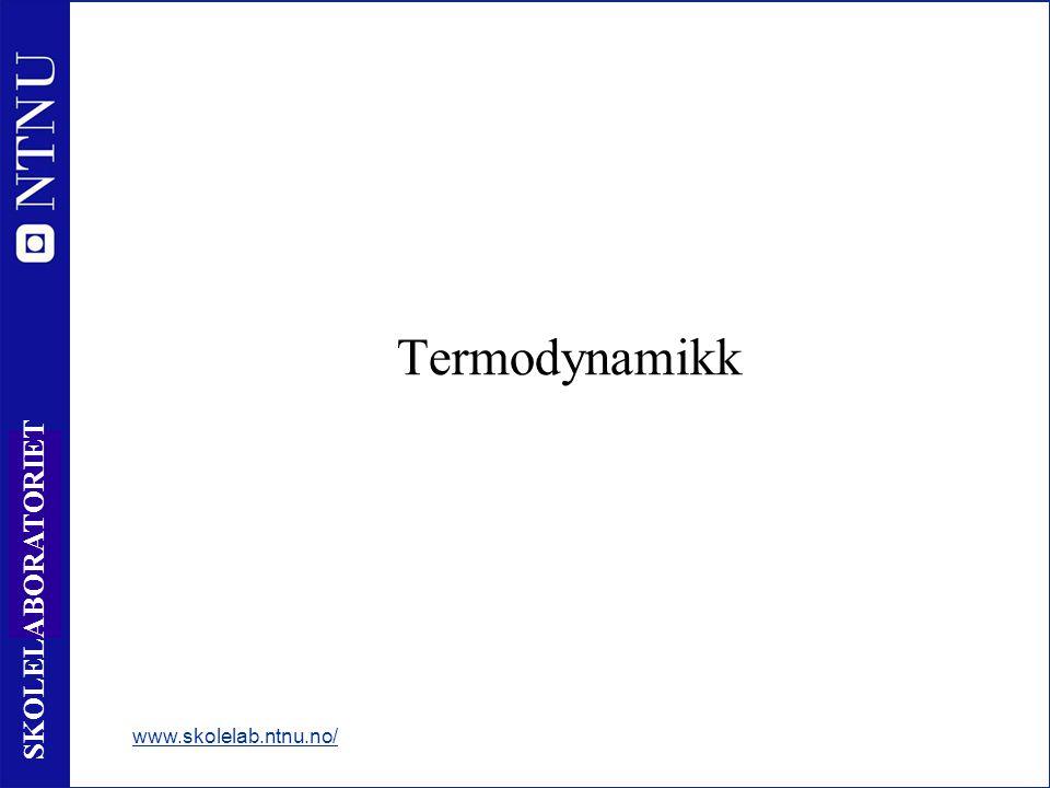 Termodynamikk www.skolelab.ntnu.no/
