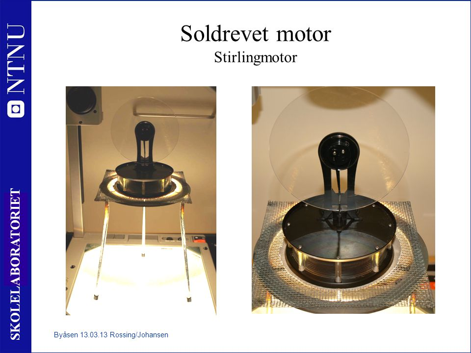 Soldrevet motor Stirlingmotor