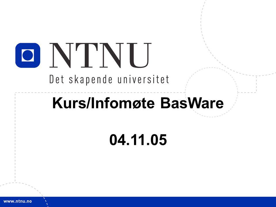 Kurs/Infomøte BasWare 04.11.05