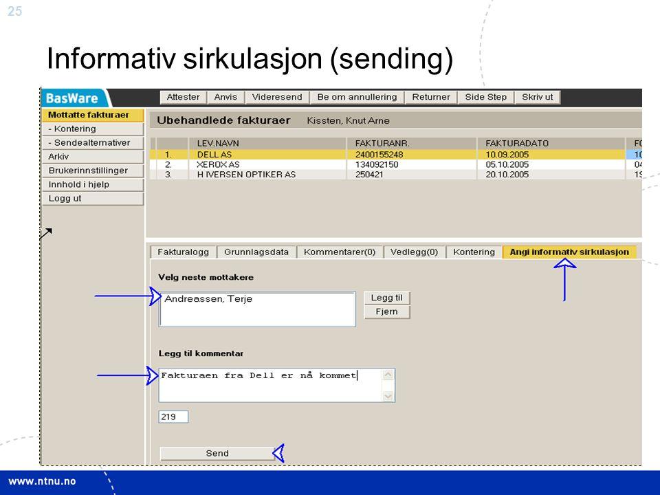 Informativ sirkulasjon (sending)