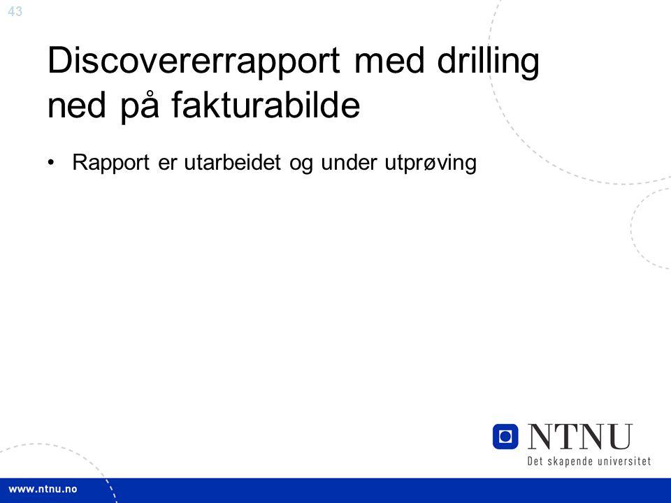 Discovererrapport med drilling ned på fakturabilde