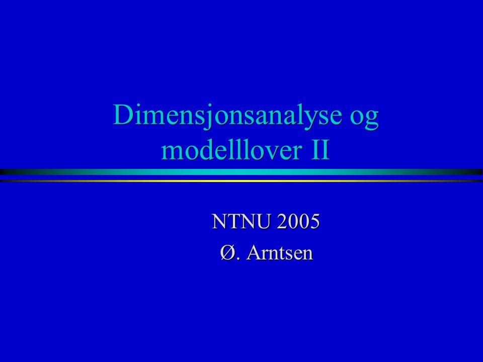 Dimensjonsanalyse og modelllover II