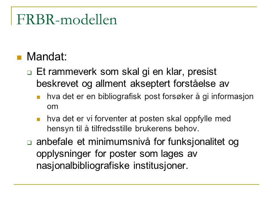 FRBR-modellen Mandat: