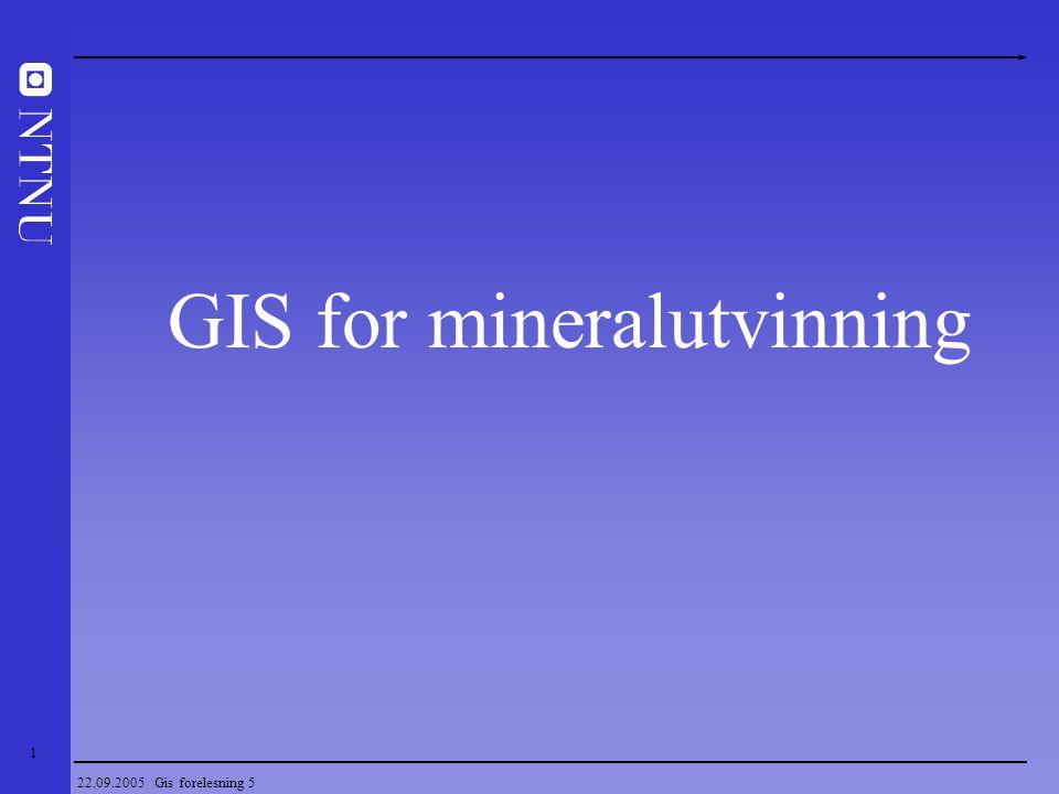 GIS for mineralutvinning