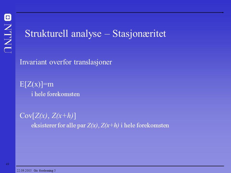 Strukturell analyse – Stasjonæritet