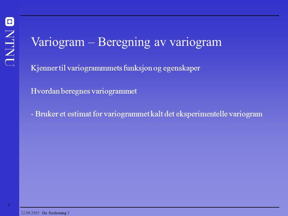 Variogram – Beregning av variogram