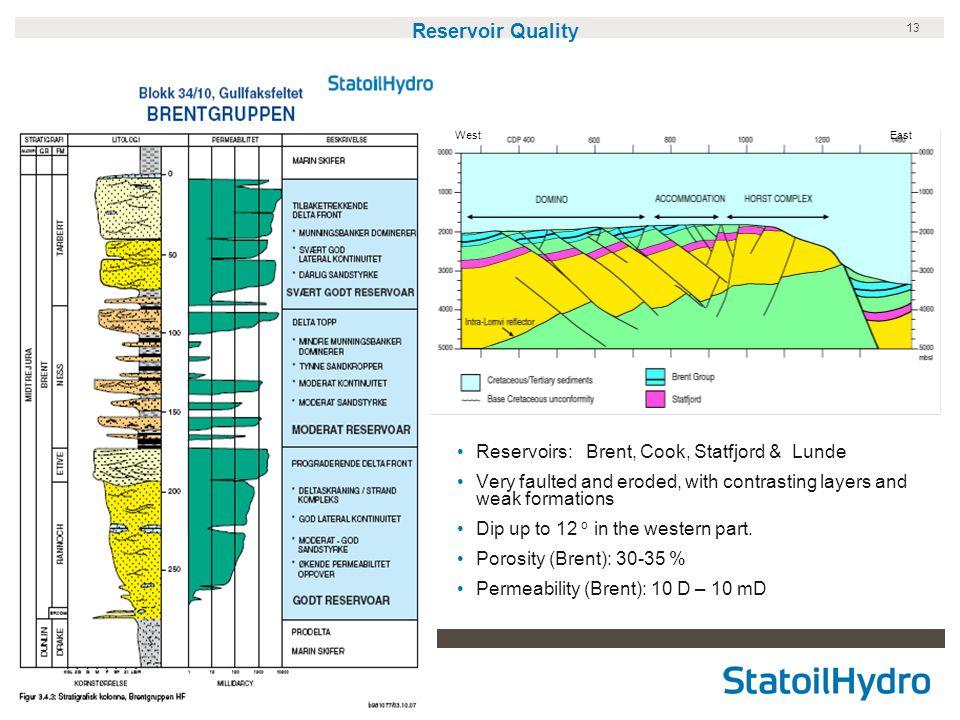 Reservoir Quality Reservoirs: Brent, Cook, Statfjord & Lunde