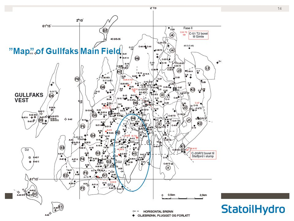Map of Gullfaks Main Field