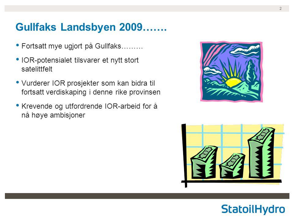 Gullfaks Landsbyen 2009……. Fortsatt mye ugjort på Gullfaks………