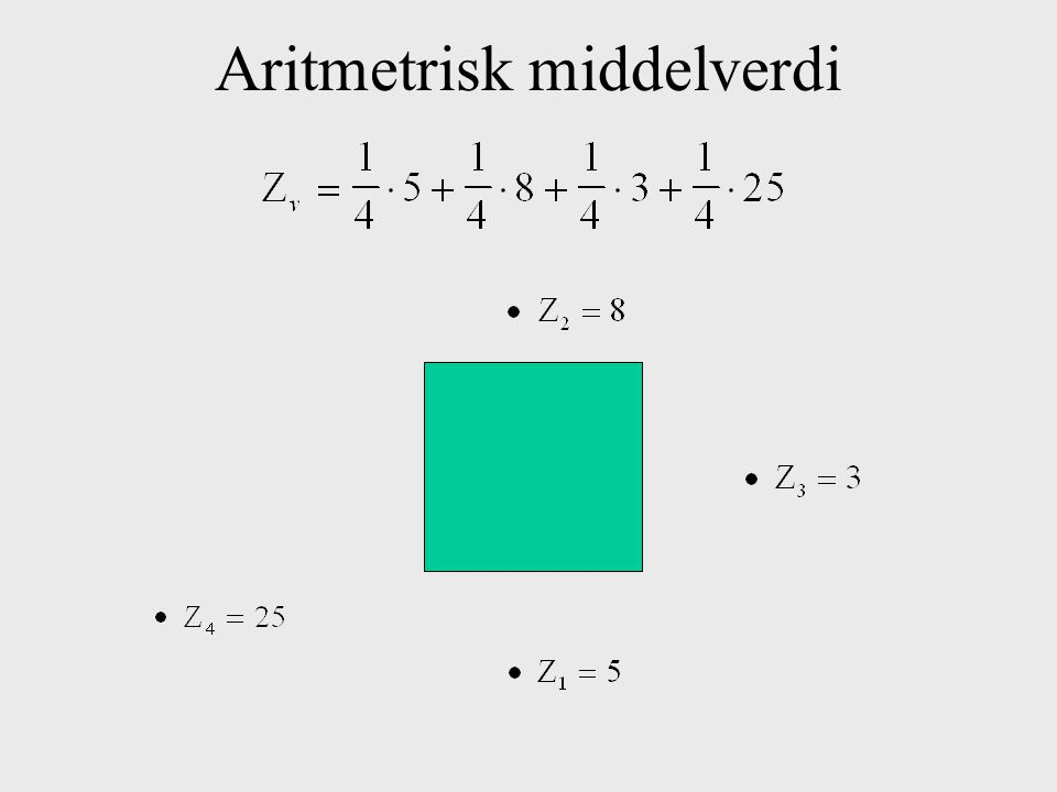 Aritmetrisk middelverdi