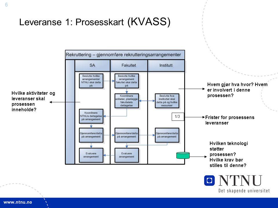 Leveranse 1: Prosesskart (KVASS)