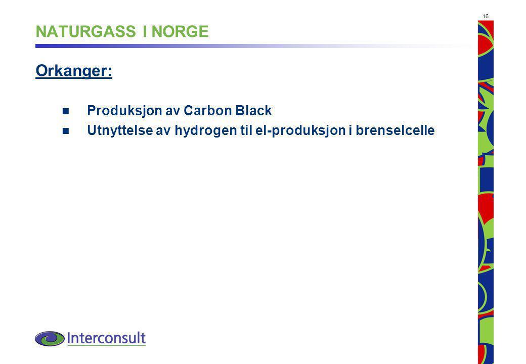 NATURGASS I NORGE Orkanger: Produksjon av Carbon Black