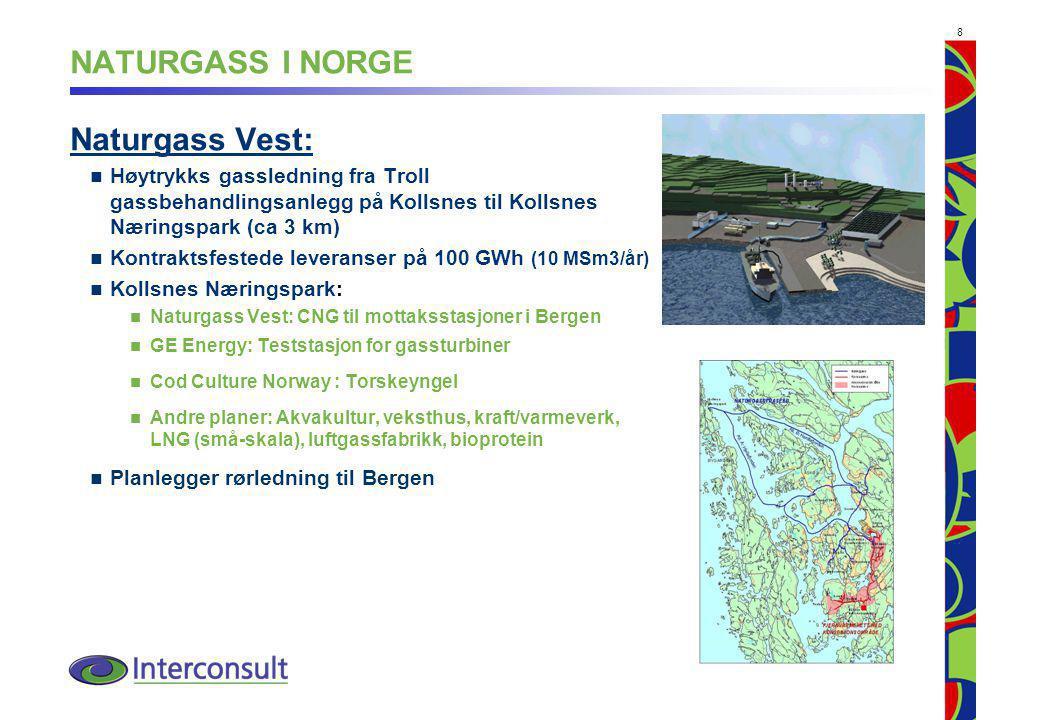 NATURGASS I NORGE Naturgass Vest: