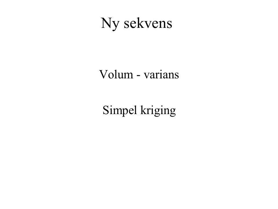 Volum - varians Simpel kriging