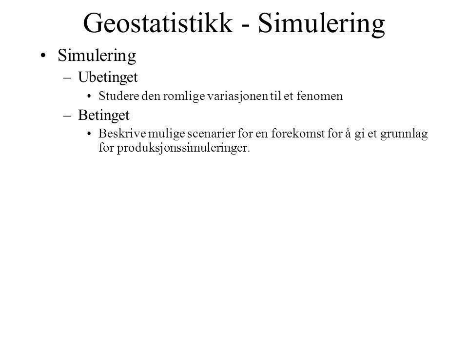 Geostatistikk - Simulering