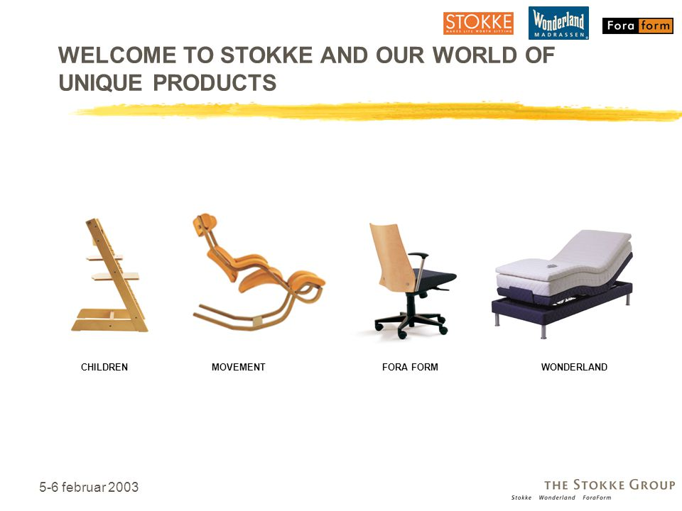 WELCOME TO STOKKE AND OUR WORLD OF UNIQUE PRODUCTS