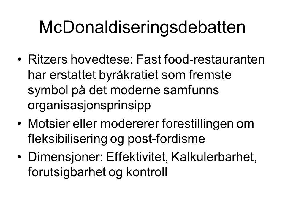 McDonaldiseringsdebatten